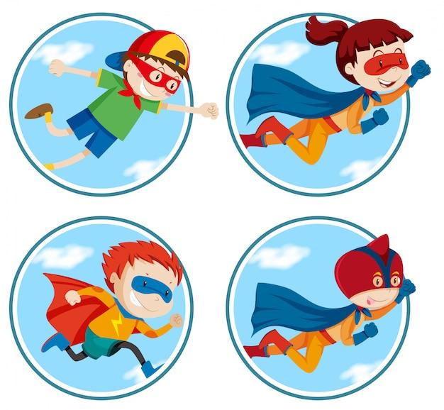 Set van superheld