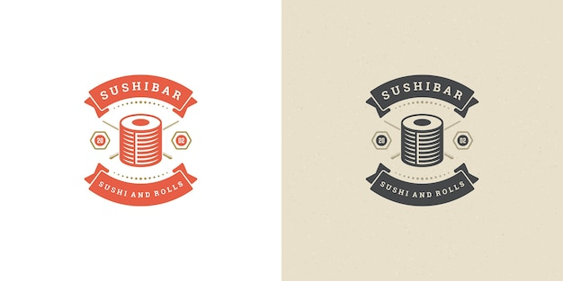 Set van sushi en japans restaurant-logo