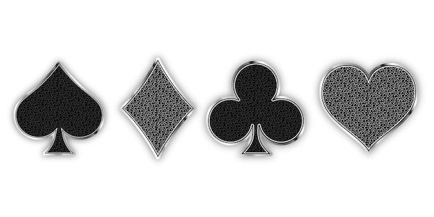 Set van symbolen stapel kaarten