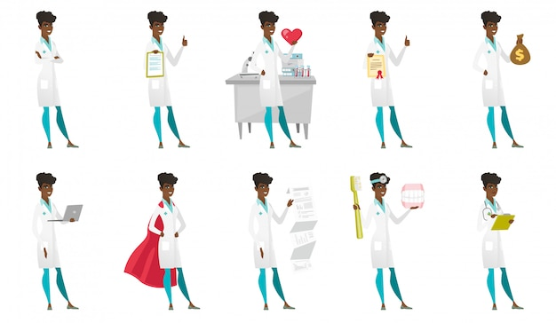 Set van tekens van de arts