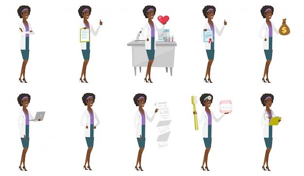Set van tekens van de arts.