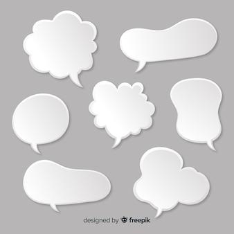 Set van tekstballonnen in komische stijl