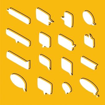 Set van tekstballonnen van verschillende vormen