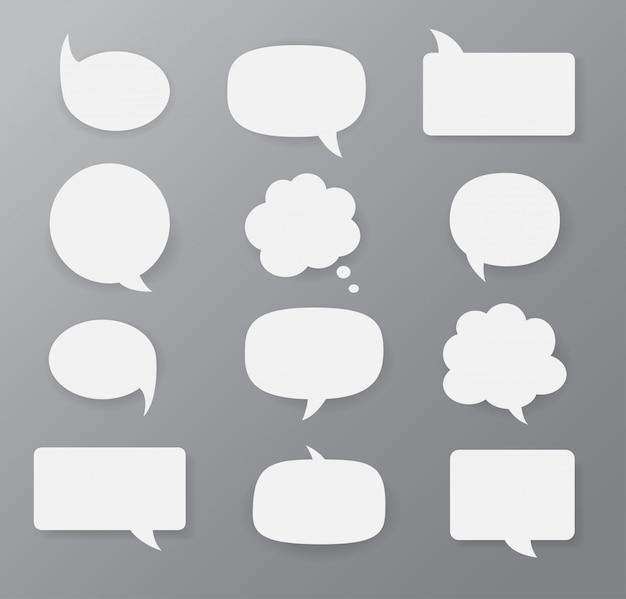 Set van tekstballonnen