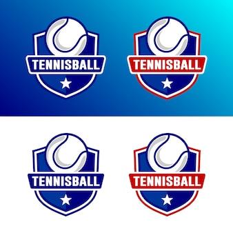 Set van tennis logo sjabloon