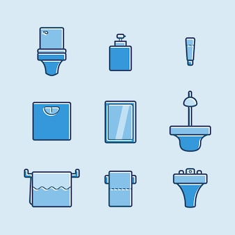 Set van toilet pictogram
