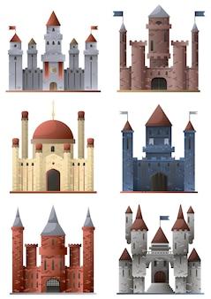 Set van torens en kastelen