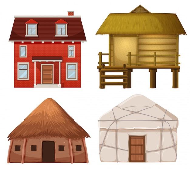 Set van traditioneel huis