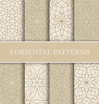 Set van traditionele arabische naadloze patroon