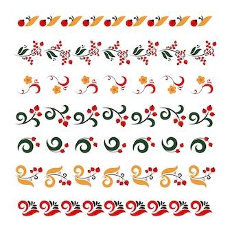 Set van traditionele borduurwerk
