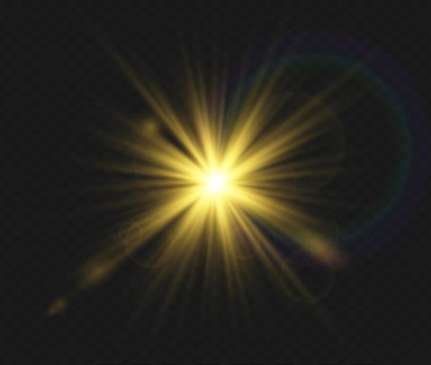 Set van transparante flitslichteffect zonlicht speciale lens