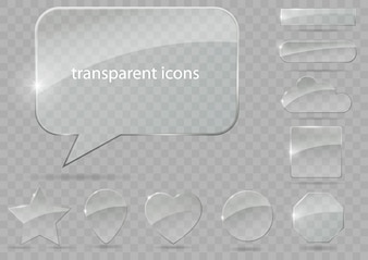 Set van transparante pictogrammen