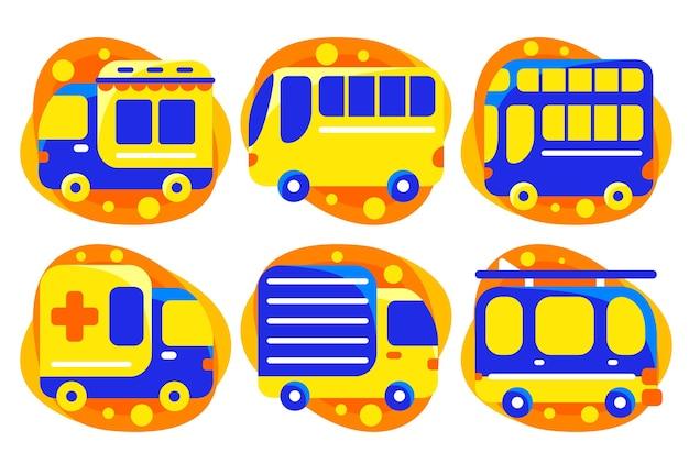 Set van transportelement