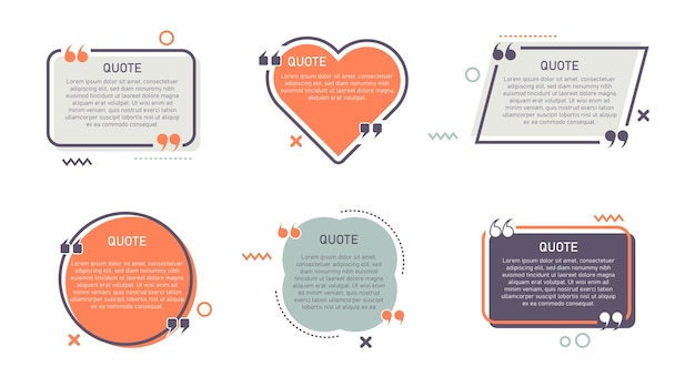 Set van trendy moderne citaten sjabloon