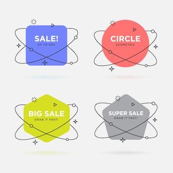 Set van trendy platte geometrische vector banners