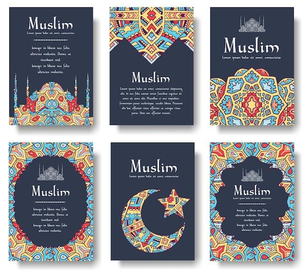Set van turkse flyer pagina ornament