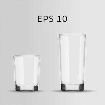 Set van twee glazen.