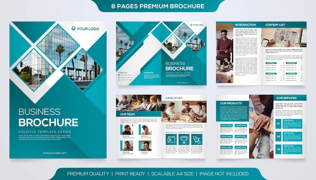 Set van tweevoudige brochure sjabloon premium
