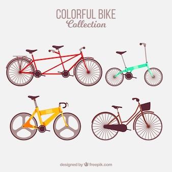 Set van typen fietsen
