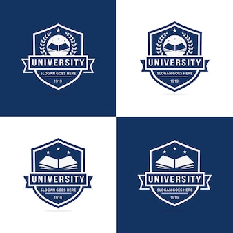 Set van universitaire logo sjabloon