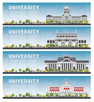 Set van universitaire studiebanners.