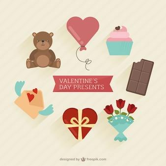 Set van valentijnsdag cadeautjes