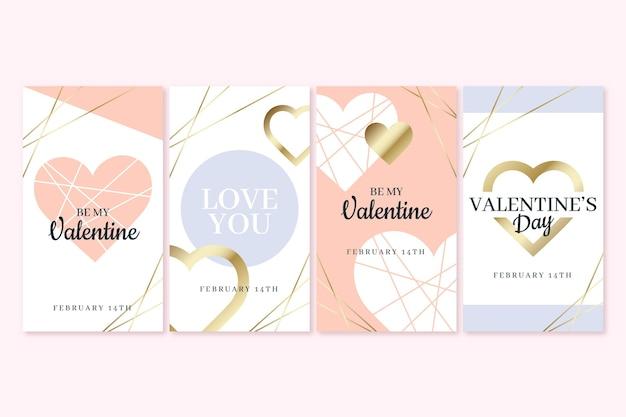 Set van valentijnsdagverhalen