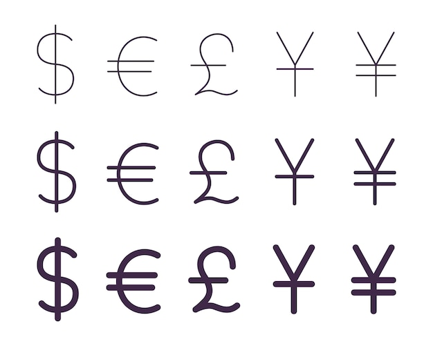 Set van valutatekens