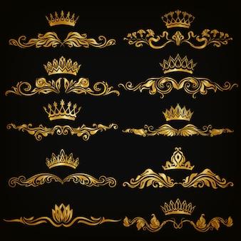 Set van vector damast ornamenten.