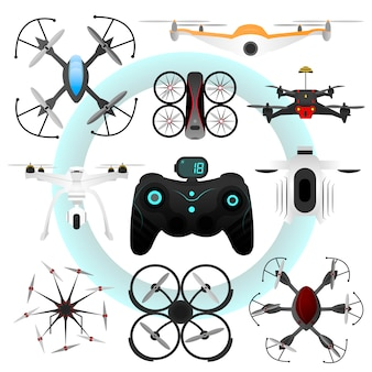 Set van vector drones.