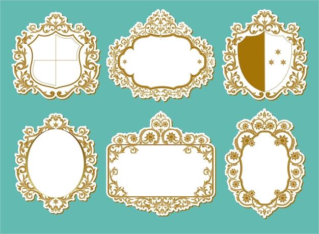 Set van vector labels