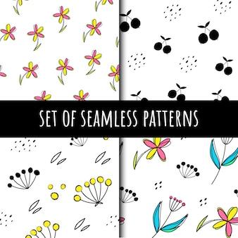Set van vector naadloze patronen