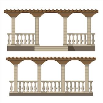 Set van vector pergola