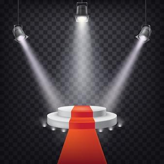 Set van vector toneel spotlights