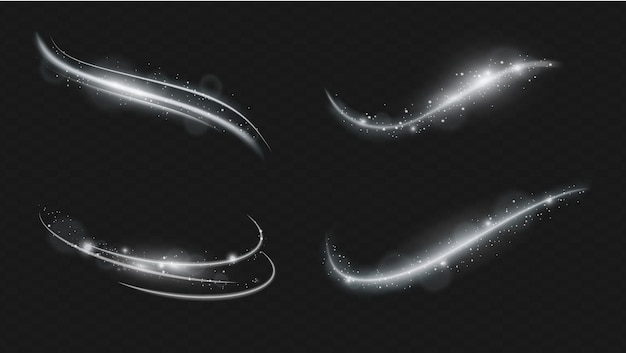 Set van vector transparant flitslichteffect, speciale lens van zonlicht