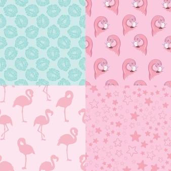 Set van vector wallpapers set van naadloze patronen