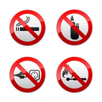 Set van verboden tekens