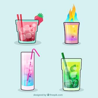 Set van verfijnde cocktails
