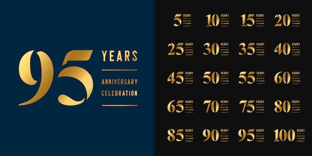 Set van verjaardag logo.