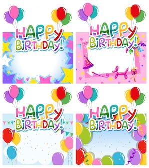 Set van verjaardagskader