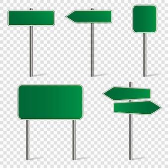 Set van verkeersborden en pijlen