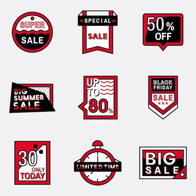 Set van verkoop badge ontwerpen