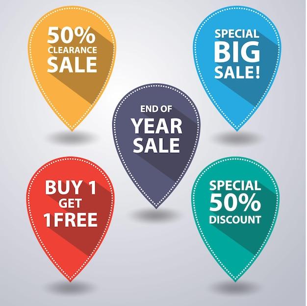 Set van verkoop banner vectorillustratie