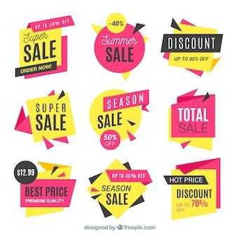 Set van verkoop banners
