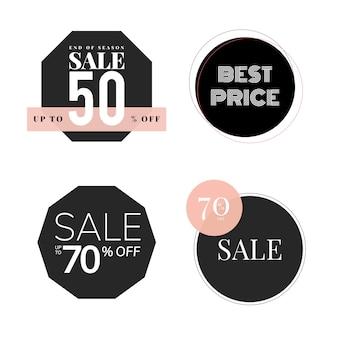 Set van verkoop promotie ontwerpsjabloon