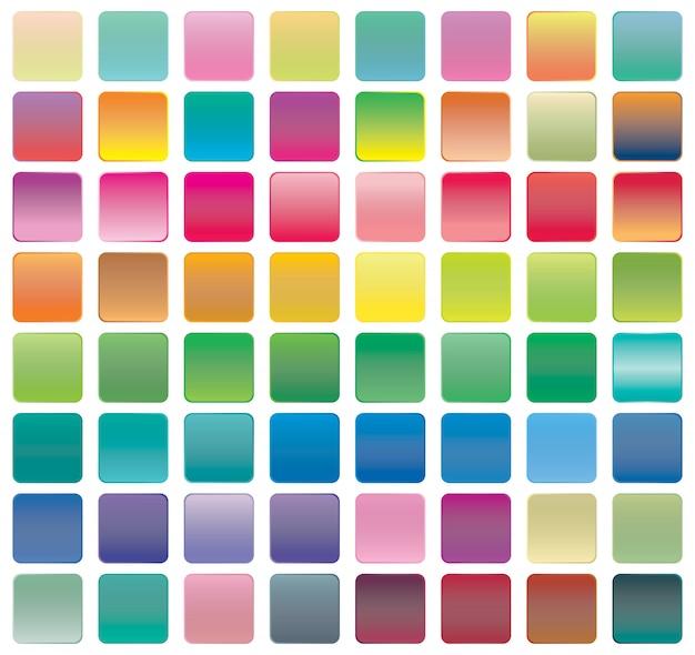 Set van verloop knoppictogrammen