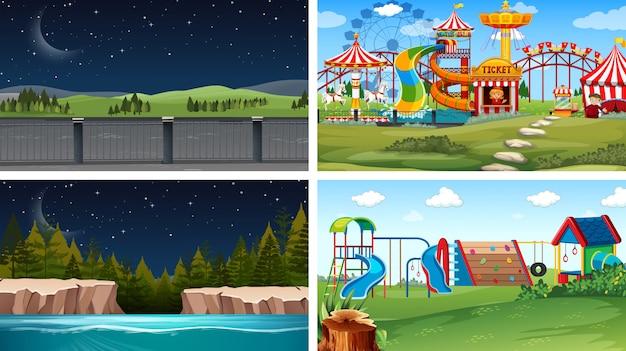 Set van verschillende achtergronden