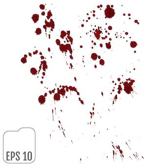 Set van verschillende bloed of verfspatten