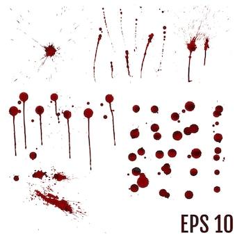 Set van verschillende bloed