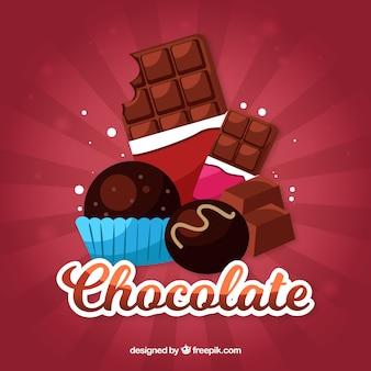 Set van verschillende chocolade snoepjes